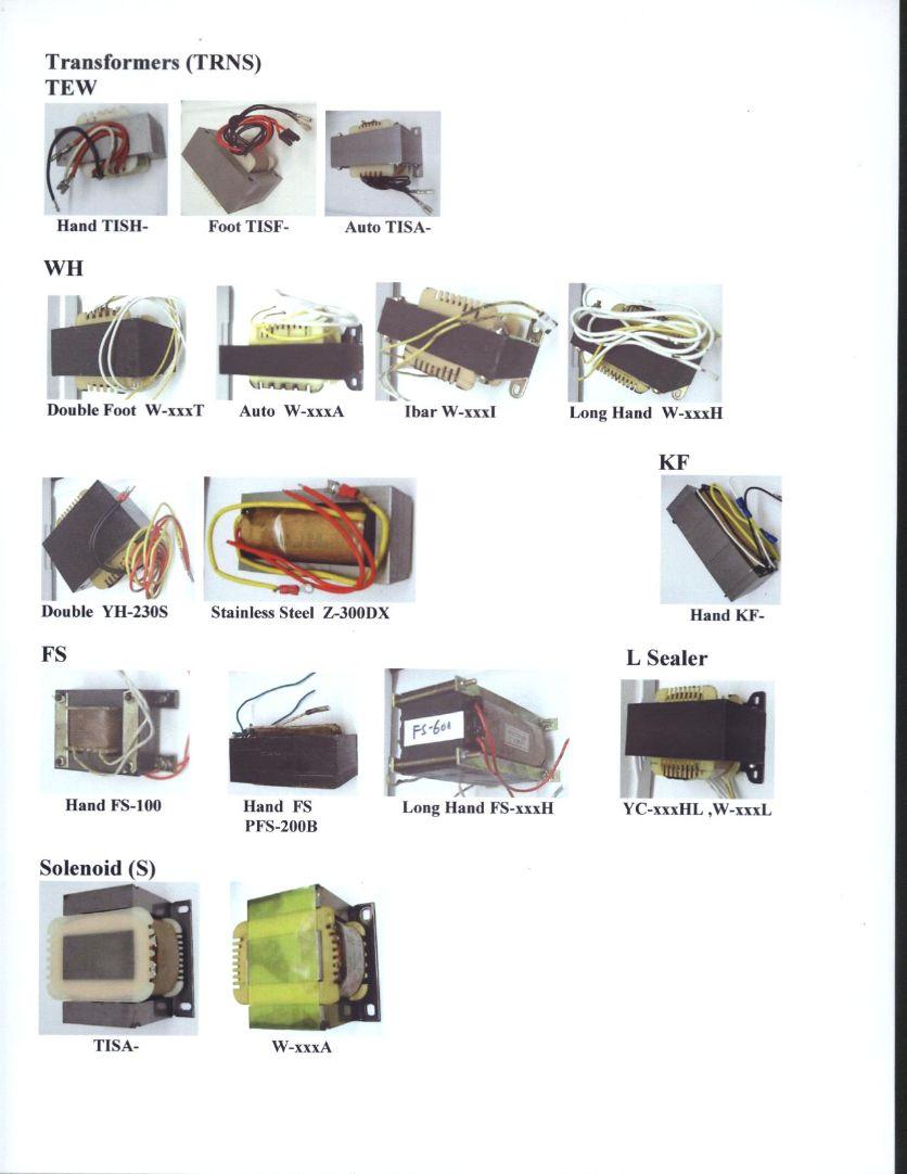Sealer Spare Parts